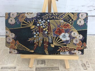京都・西陣織・金襴の生地で仕立てた和柄の袱紗     ふくさの画像