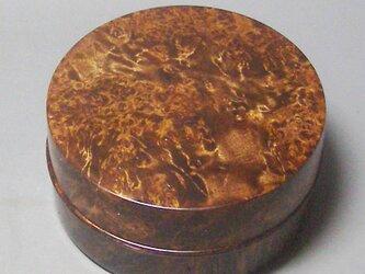 アセビ玉瘤杢ミニ食籠小物入れ スカーレット染めの画像