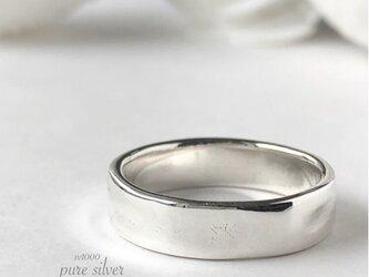 送料無料✴︎ぽこぽこ6㎜リング 純銀  purecubicの画像