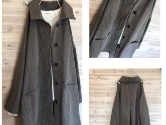 a.myu新作♪オーバーサイズのコートジャケット先染め斑入りの画像