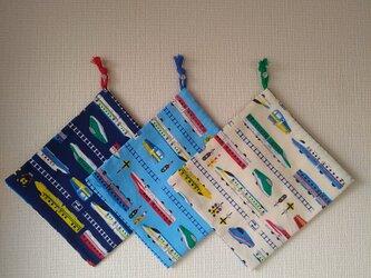 片紐コップ袋1枚 新幹線の画像