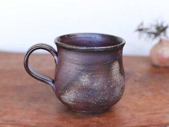 備前焼 コーヒーカップ(大) ロクロ目 c7-023の画像