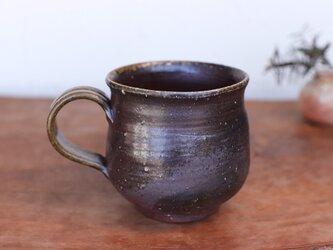 備前焼 コーヒーカップ(大) ロクロ目 c7-025の画像