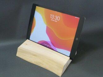 ヒノキ iPadタブレットスタンド 甲-kinoeの画像