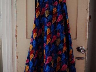 キテンゲ 半円形の巻きスカート color leavesの画像