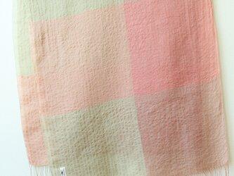手織り・草木染め リネン大判ストール の画像