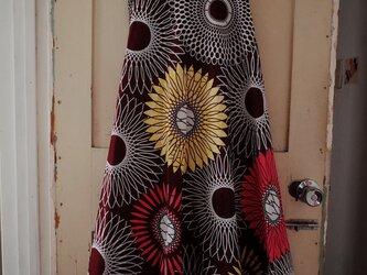 キテンゲ 半円形の巻きスカート flowersの画像