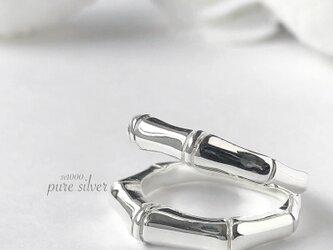 サイズ入荷❣️送料無料✴︎ずっしり♡ボーンデザインリング 純銀  purecubicの画像