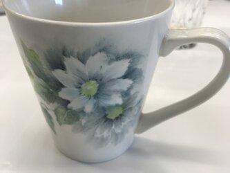 ちャイナペイント(ポーセリン)マグカップの画像