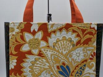 帯地から作ったトートバッグの画像