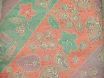 tme0029 古布・古裂 花文様モスリン(メリンス)長襦袢地 反もの 未使用☆/和服・着物・襦袢・帯・和小物の画像