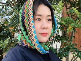 ★スヌードときどき帽子【グリーン】の画像