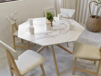 Marble Dining Table 110 / WHの画像
