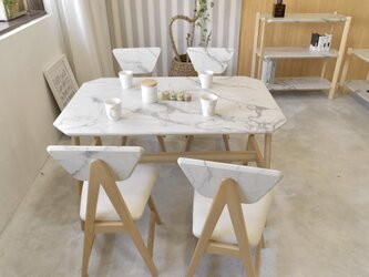 Marble Dining Table 121 / WHの画像
