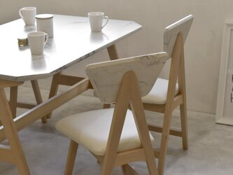 Marble Dining 2Chair Set / WHの画像
