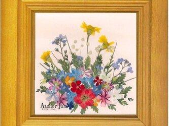 現品特別価格!花あそび(10×10)木製額付きの画像
