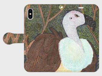 手帳型iPhoneケース/スマホケース/鳥/コシジロハゲワシの画像