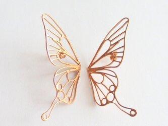 Butterfly(L) piercings / 縦着ピアス / PINKGOLDの画像