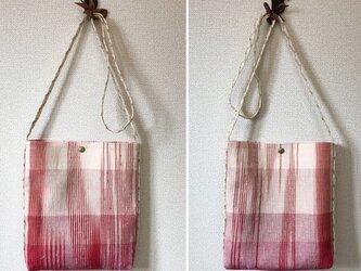 裂き織り 春色ポシェット(ミニショルダー)送料込の画像