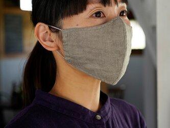 【カシミヤベージュ・立体】リネン 2重仕様 Wガーゼリネン100% 抗菌 防臭 速乾 /z021b-csb2の画像