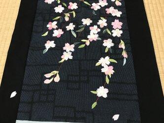 ヴィンテージ着物のタペストリー さくら開花しましたの画像