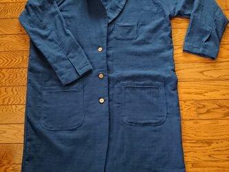 ダブルガーゼのロングジャケットの画像