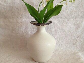 花器(白マット×ブロンズ)の画像