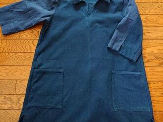 ポロシャツ風ワンピースの画像