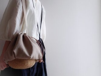 Drawstring bag Cottonlinen 【受注制作】の画像
