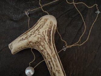 淡水真珠のPendant(ハーキマークオーツ)の画像