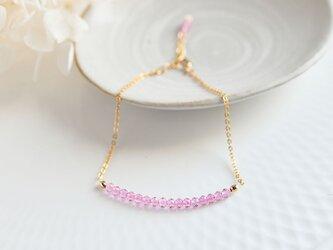 特価 桜色 ピンク色トパーズのブレスレットの画像