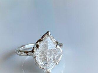 ハーキマーダイヤモンド リング/silver925の画像