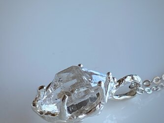 ハーキマーダイヤモンド ネックレス/silver925の画像