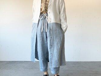 Vacances coat[white × blue stripe]の画像