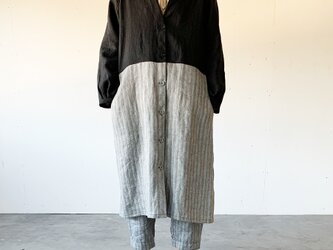 Vacances coat[black × black stripe]の画像