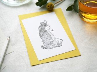 【2枚セット】酒井ひさお「無言アピール」活版印刷のポストカード・グリーティングカード/猫・ネコの画像