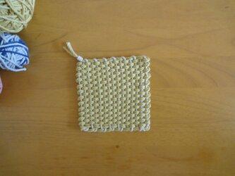 *再販*  手織りコースター きいろの画像