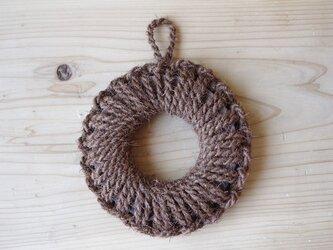 紀州産棕櫚の手編み鍋敷き(小)の画像