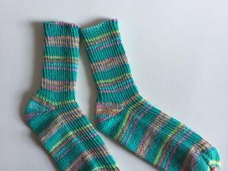 手編み靴下【コットンストレッチ パルマ06】の画像