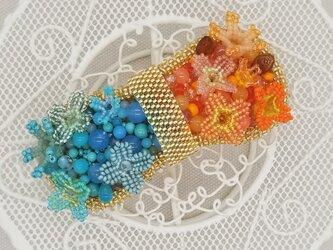 バレッタ suger-pop(オレンジ×ミント)の画像