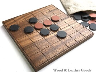 Wood & Leather 36 Block Reversi Othelloの画像