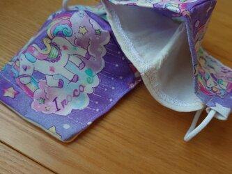 ユニコーン紫系マスク2枚組■子供用 フィルタプレゼントの画像