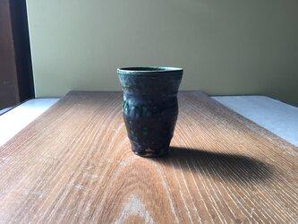 窯変織部カップの画像