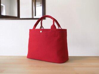 しかく トートバッグ / 帆布・赤の画像