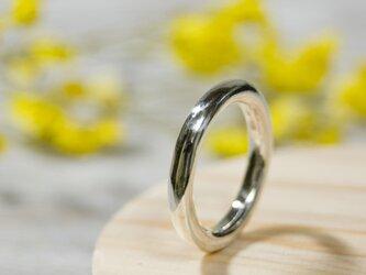 鏡面 シルバーラウンドプレーンリング 3.0mm幅 ミラー シルバー950|SILVER RING 指輪 シンプル|221の画像