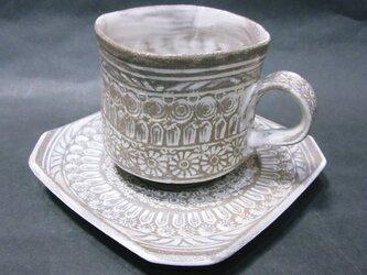 三島唐津コーヒーカップの画像
