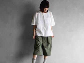オーガニックコットン半袖ポケットカットソー【ユニセックス】の画像