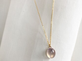 【14KGF】Star Rose Quartz Necklaceの画像