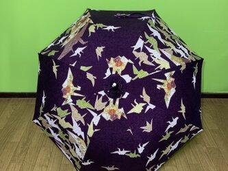 日傘 de 着物 折鶴の画像