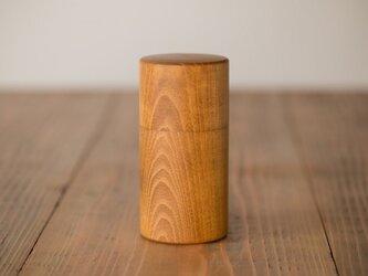 【受注生産品】ろくろ挽きの桑の木の茶筒(大)の画像